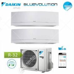 Condizionatore Climatizzatore Daikin Dual Split Inverter Serie Emura White Wi-Fi R-32 Bluevolution 9000+9000 Con 2MXM50M