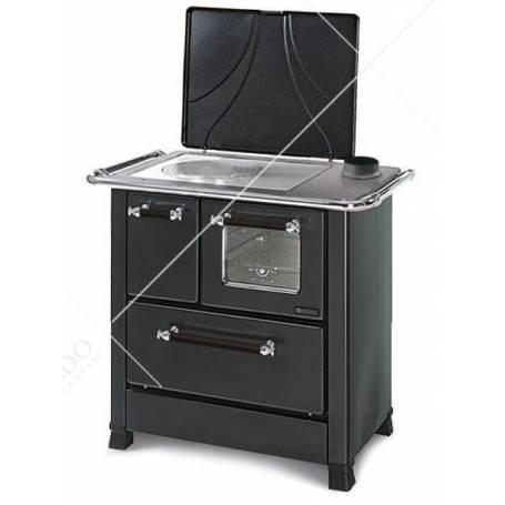Cucina A Legna In Acciaio Porcellanato La Nordica Extraflame Mod. Romantica 3,5 DX 5,0 KW Antracite