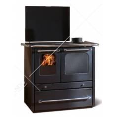 Cucina A Legna In Acciaio Porcellanato La Nordica Extraflame Mod. Sovrana Evo DX 9,0 KW Antracite