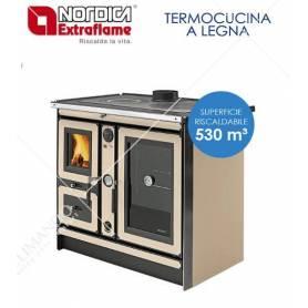 Termocucina A Legna In Maiolica La Nordica Extraflame Mod. Italy Termo Con Sistema D.S.A. Magnolia 18,5 KW