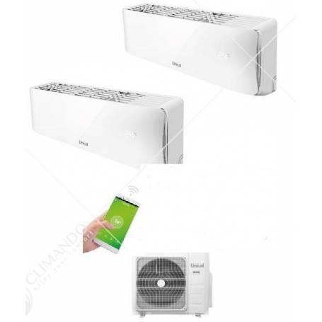 Condizionatore Inverter Dual Split Unical Air Cristal 10000 + 10000 BTU Con CMX2 18HE