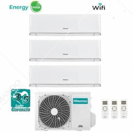 Condizionatore Hisense Trial Split Inverter Serie Energy 9000+9000+9000 Con 3AMW-70U4SAD1 9+9+9 WI-FI