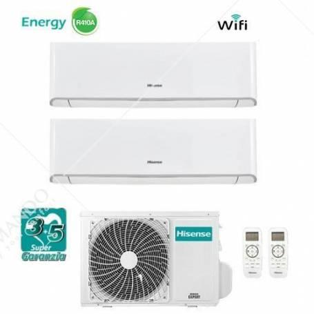 Condizionatore Hisense Dual Split Inverter Serie Energy 9000+9000 Con 2AMW46U4SGD1 9+9 WI-FI