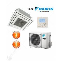 Condizionatore Daikin Inverter Bluevolution R-32 FFA25A2VEB 9000 BTU A Cassetta Fully Flat Con Comando A Filo E Griglia Standard