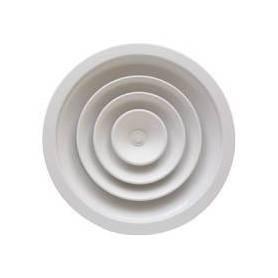 DIFFUSORE CIRCOLARE A CONI FISSI CON SERRANDA serie CFA-SE Bianco vari Diametri