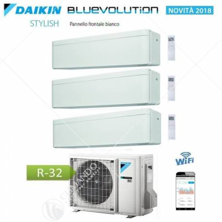 Condizionatore Daikin Bluevolution Trial Split Inverter Stylish White R-32 WI-FI 7+9+12 Con 3MXM52N