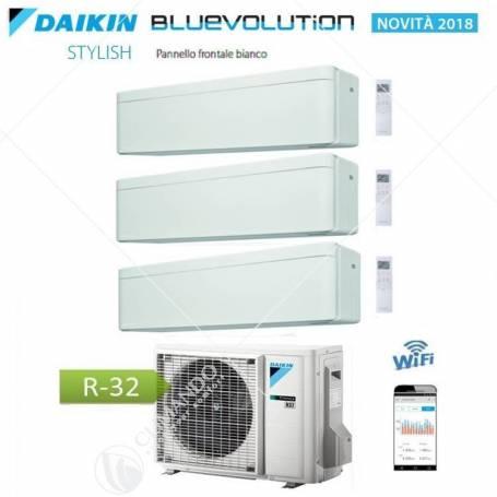 Condizionatore Daikin Bluevolution Trial Split Inverter Stylish White R-32 WI-FI 7+9+12 Con 3MXM52N