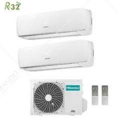 Condizionatore Climatizzatore Hisense Dual Split Inverter R-32 Mini Apple Pie 9000+9000 Con 2AMW42UARRA