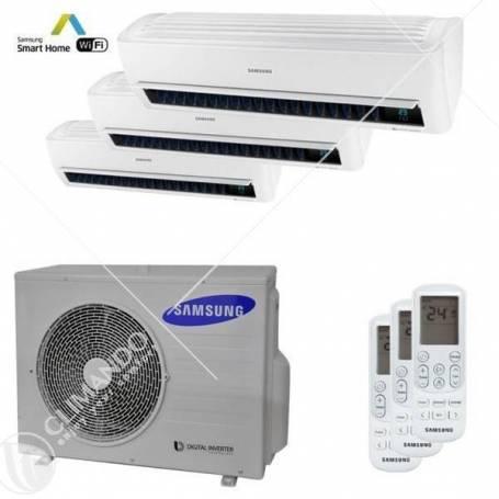 Condizionatore Climatizzatore Samsung inverter Trial Split 7000+7000+7000 Windfree Light R-32 WIFi Con AJ052MCJ3EH/EU