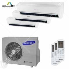 Condizionatore Climatizzatore Samsung inverter Trial Split 9000+12000+12000 Windfree Light WIFi Con AJ068MCJ3EH/EU