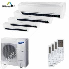 Condizionatore Climatizzatore Samsung inverter Quadri Split 7+7+7+7 Windfree Light WIFi Con AJ070MCJ4EH/EU