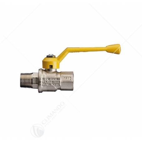 Valvola gas a sfera FF con leva in acciaio