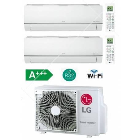 Condizionatore Climatizzatore LG Dual Split Libero Plus R-32 Wi-Fi Inverter 9000+9000 Con MU2R15 UL0