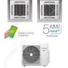 Condizionatore Climatizzatore Unical Trial Split Inverter a Pavimento 12000+12000+12000 Con CMX4 28HE