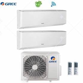 Condizionatore Climatizzatore Gree Dual Split Inverter Amber R-32 WI-FI 9000+9000 Con GWHD(14)NK6LO