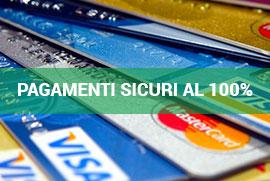 Pagamento Sicuro con Paypal, Contrassegno, Carte e Bonifico Bancario
